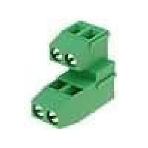 Svorkovnice patrové úhlové 90° 1,5mm2 5mm póly:4 24A