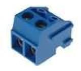 Rozpojovací svorkovnice násuvná svorkovnice 1,5mm2 5mm modrá