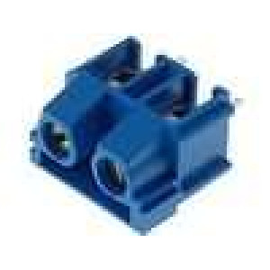 Svorkovnice úhlové 90° 7,5mm THT póly:2 modrá