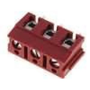 Svorkovnice úhlové 90° 2,5mm2 7,5mm 3 PIN 24A červená 500V