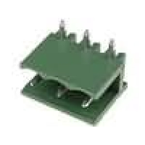 Rozpojovací svorkovnice zásuvka vidlice úhlové 90° 5mm THT