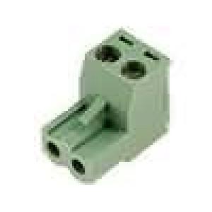 Rozpojovací svorkovnice zástrčka zásuvka přímý 5mm póly:2