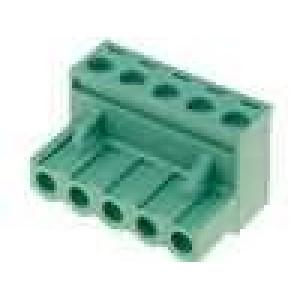Rozpojovací svorkovnice zástrčka zásuvka přímý 5mm póly:5