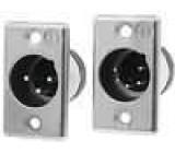 Zásuvka XLR vidlice 4 PIN přímý pájení Kontakty mosaz 50V