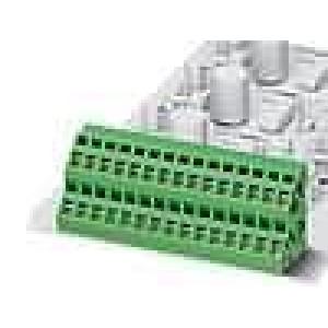 Svorkovnice 5mm pružinové svorky póly:1 10A 300V