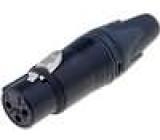 Zástrčka XLR zásuvka 3 PIN přímý na kabel pájení 3,5-8mm