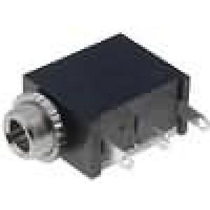 Zásuvka Jack 3,5 mm zásuvka mono, s vypínačem úhlové 90°