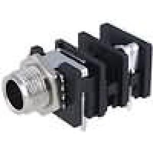 Zásuvka Jack 6,35 mm zásuvka mono úhlové 90° do panelu THT