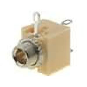 Zásuvka Jack 3,5 mm zásuvka mono, s vypínačem pájení