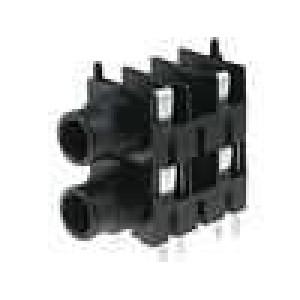 Zásuvka Jack 6,35 mm zásuvka mono, dvojité, s vypínačem THT