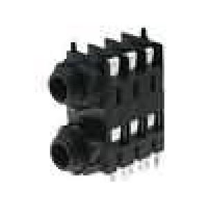 Zásuvka Jack 6,35 mm zásuvka šroubovací THT pocínovaný