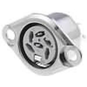 Zásuvka DIN zásuvka 6 PIN vývody 240° pájení 34V