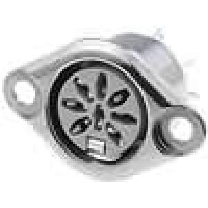 Zásuvka DIN zásuvka 8 PIN vývody 270° pájení 34V