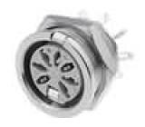 Zásuvka DIN zásuvka 7 PIN  vývody 270° pájení 34V
