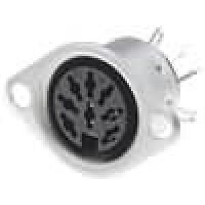Zásuvka DIN zásuvka 8 PIN vývody 270° pájení