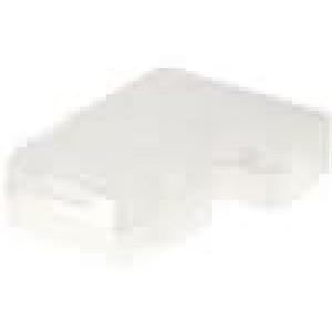 Návlek na konektor zásuvka pro fastony 6,3mm přírodní póly:1