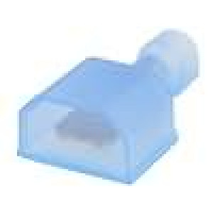 Konektor plochý 6,3mm 0,8mm kolík 1,25-2mm2 krimpovací modrá