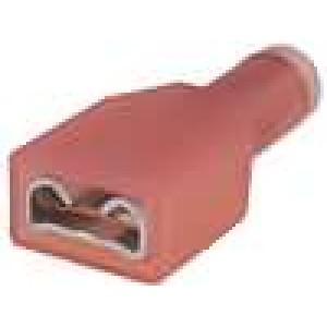 Konektor plochý 6,3mm 0,8mm zásuvka 1-1,5mm2 krimpovací