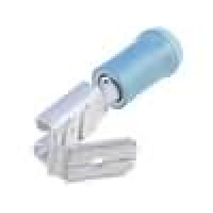 Konektor plochý 6,3mm 0,8mm zásuvka/kolík 1-2,5mm2 na kabel