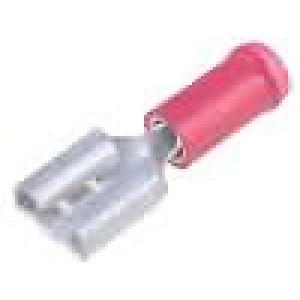 Konektor plochý 6,3mm 0,8mm zásuvka 0,3-1,5mm2 krimpovací