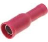 Konektor kulatý zásuvka d:4mm 0,5-1mm2 krimpovací izolovaná
