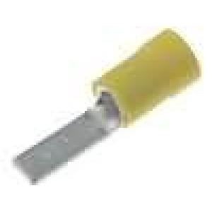 Koncovka jehlová 4-6mm2 krimpovací na kabel izolovaná