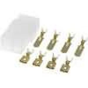 Konektor plochý zásuvka/kolík krimpovací na kabel 2,5mm2