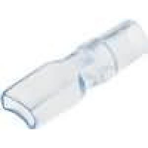 Návlek na konektor 6,5mm d:4mm PVC přírodní/modrá L:24mm