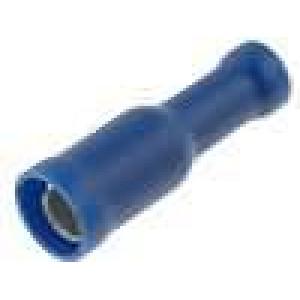 Konektor kulatý zásuvka d:4mm 1,5-2,5mm2 krimpovací na kabel