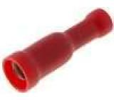 Konektor kulatý zásuvka d:4mm 0,5-1,5mm2 krimpovací na kabel