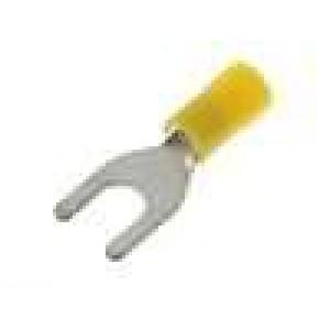 Koncovka vidličková M6 Ø:6,4mm 4-6mm2 krimpovací na kabel
