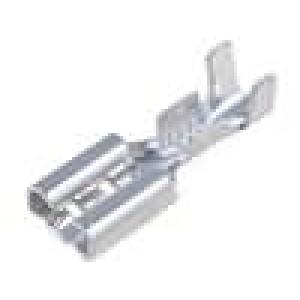 Konektor plochý 4,8mm 0,5mm zásuvka 0,5-1mm2 krimpovací