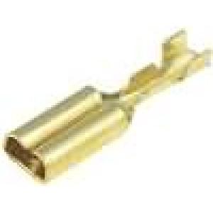 Konektor plochý 2,8mm 0,5mm zásuvka 0,14-0,3mm2 krimpovací