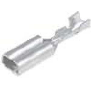 Konektor plochý 2,8mm 0,8mm zásuvka 0,14-0,3mm2 krimpovací