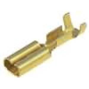 Konektor plochý 2,8mm 0,8mm zásuvka 0,3-0,5mm2 krimpovací