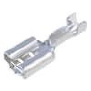 Konektor plochý 6,3mm 0,8mm zásuvka 0,5-1mm2 krimpovací
