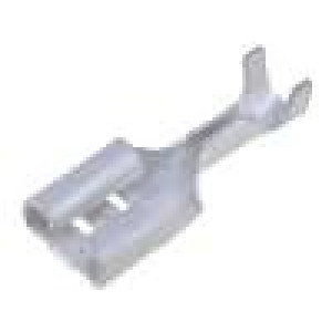 Konektor plochý 6,3mm 0,8mm zásuvka 0,3-0,9mm2 krimpovací