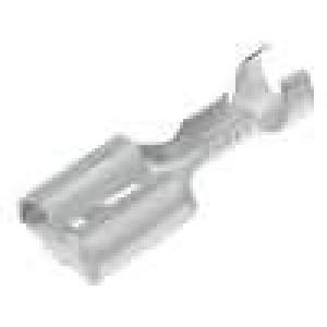 Konektor plochý 6,3mm 0,8mm zásuvka 0,8-2mm2 krimpovací