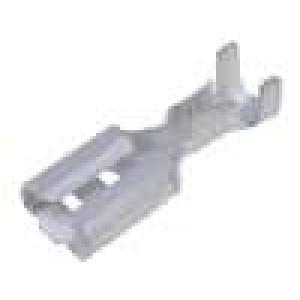 Konektor plochý 4,8mm 0,8mm zásuvka 0,5-1,5mm2 krimpovací