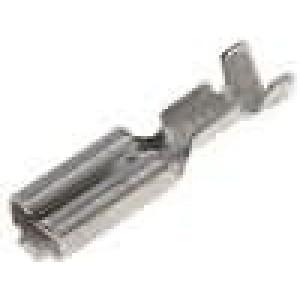 Konektor plochý 2,8mm 0,8mm zásuvka 0,2-0,5mm2 krimpovací