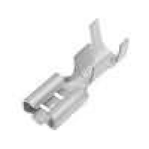 Konektor plochý 4,8mm 0,5mm zásuvka 0,5-2mm2 krimpovací