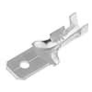 Konektor plochý 6,3mm 0,8mm kolík 0,5-1mm2 krimpovací