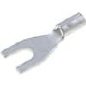Koncovka vidličková M2 0,1-0,5mm2 krimpovací na kabel měď
