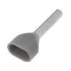 Trubičková koncovka izolovaná, dvojité měď 0,75mm2 10mm 105°C