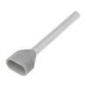 Trubičková koncovka izolovaná, dvojité měď 0,75mm2 18mm 105°C
