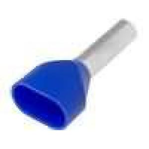 Trubičková koncovka izolovaná, dvojité měď 2,5mm2 10mm 105°C