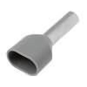 Trubičková koncovka izolovaná, dvojité měď 4mm2 12mm na kabel