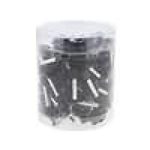 Izolovaná Sada trubičkové koncovky 6mm2 18mm barva černá
