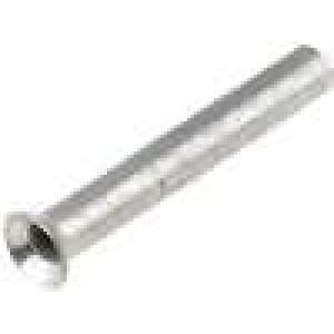 Trubičková koncovka neizolované měď 0,14mm2 6mm pocínovaný