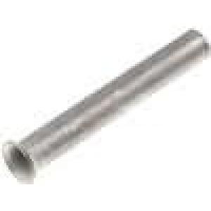 Trubičková koncovka neizolované měď 0,75mm2 10mm pocínovaný